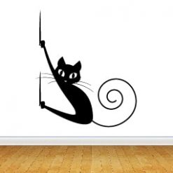 gato en pared