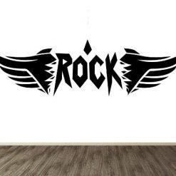 Vinilo decorativo alas rock