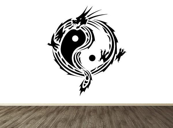 Dragón yin yang