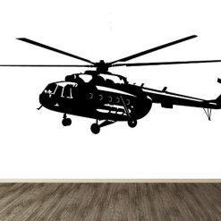 Vinilo decorativo helicoptero