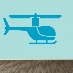 Vinilo decorativo helicóptero infntil