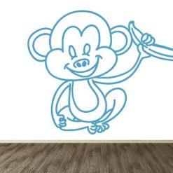 mico con banano