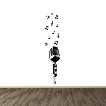 Vinilo decorativo microfono