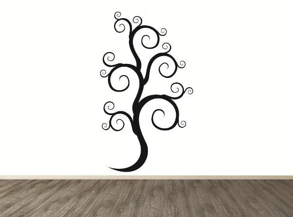 Vinilo decorativo rama en arabesco