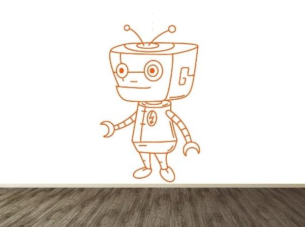 Vinilo decorativo robotico