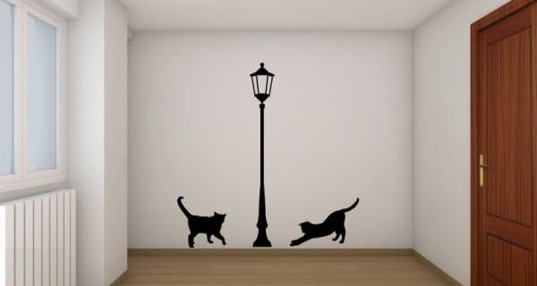 Lampara y gatos creando vinilos decorativos medellin - Vinilos decorativos gatos ...