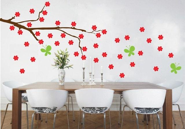 Vinilo viento y flores creando vinilos decorativos for Elementos de cocina bogota