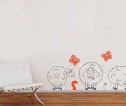 adhesivos decorativos para pared ovejas pastando, Medellín, cali y bogotá