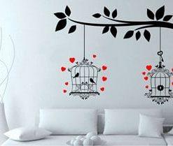 vinilos decorativos en bogotá de jaulas y aves