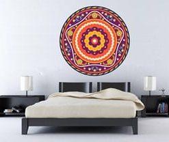 multiples colores en los vinilos de mandalas para habitaciones
