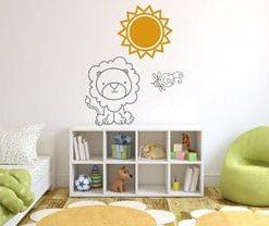 adhesivos deocrativos para paredes león infantil