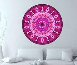 adhesivos de mandalas rosadas para habitaciones y salas