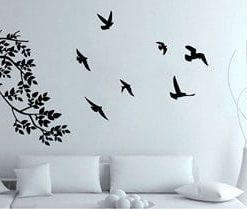 vinilo rama y aves