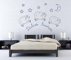 vinilos decorativos medellín, dulces sueños. decoraciónd e habitaciones