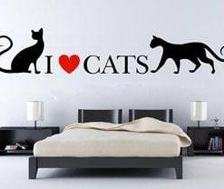 vinilos decorativos de gatos para paredes, adhesivos decorativos en medellín