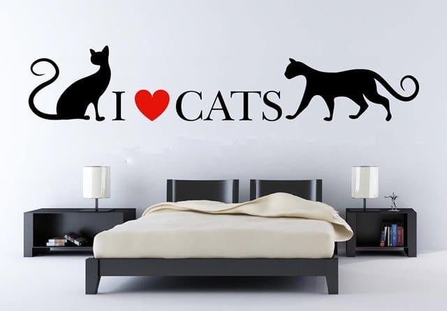 vinilos decorativos de gatos en medellín, bogotá y cali