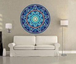 sticker de mandalas azules para salas en medellin y envigado