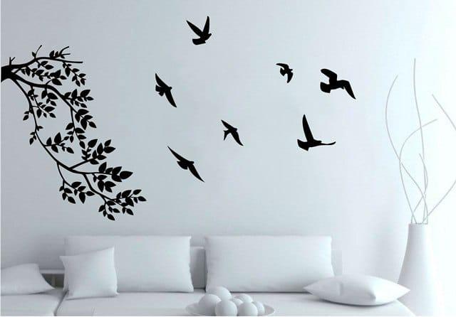 Vinilo rama y aves creando vinilos decorativos medellin for Vinilos de pared juveniles