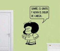 Vinilos adhesivos Decorativos para apredes en cali sobreFrase de Mafalda