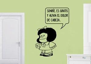 Vinilo Decorativo Frase de Mafalda