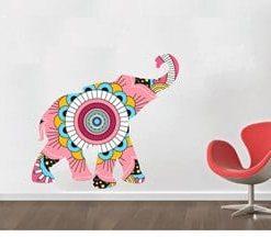 vinilo decorativo elefánte trompa elevada