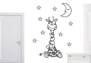 vinilo decorativo jirafa con bufanda