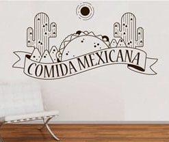 vinilo decorativo taco mexicano