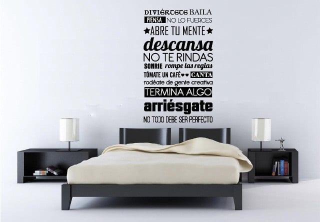 Vinilo Decorativo Frase Abre Tu Mente Creando Vinilos