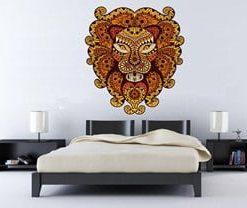 vinilo decorativo león mandala