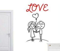 vinilo decorativo pareja love
