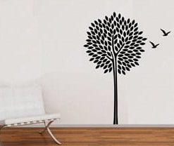 vinilo decorativo árbol con aves