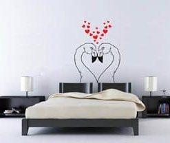 vinilo decorativo flamingo enamorados
