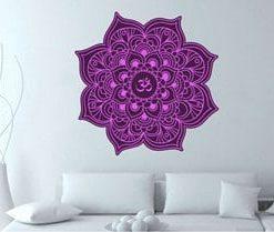 vinilo decorativo mandala violeta pequeño