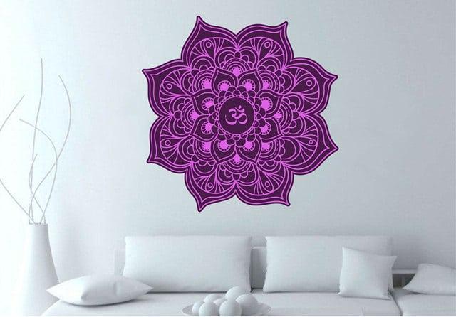 Vinilo decorativo mandala violeta creando vinilos for Vinilos pared mandalas