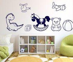 vinilo decorativo juguetes azules