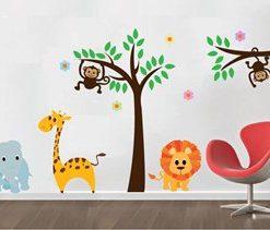 vinilo decorativo jungla infantil pequeña