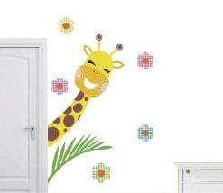vinilo decorativo jirafa asomada