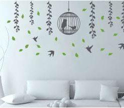 vinilo adhesivos decorativos para pared ramas y colibrí normal