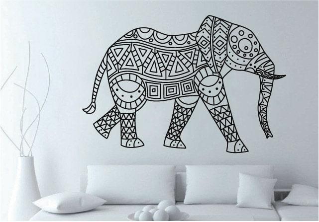 vinilos-decorativos-medellin-elefante-ornamental
