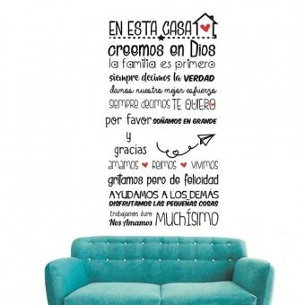 Vinilo Decorativo Frase de la Casa - Frases Decorativas Para Pared