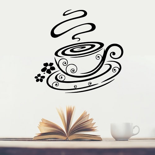 Vinilo decorativo caf arabesco creando vinilos - Vinilos decorativos comedor ...