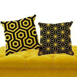 cojines duo de textura amarilla
