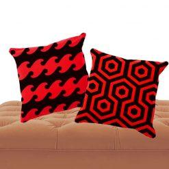 duo de cojines textura roja y negra