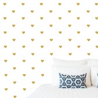 vinilo decorativo textura corazones