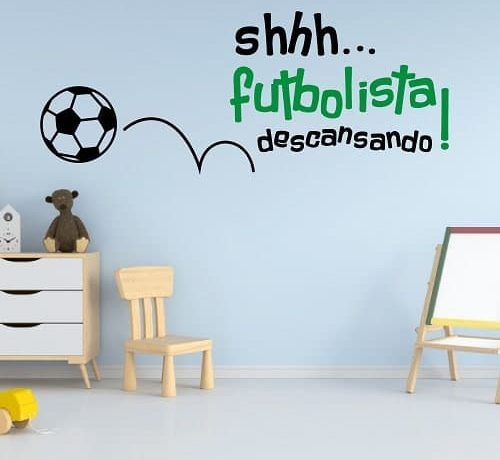 Vinilo Decorativo Futbolista descansando