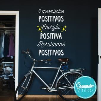 vinilo decorativo mentente positivo