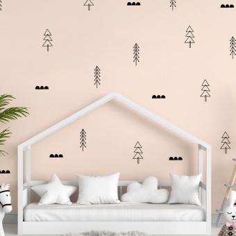 vinilo decorativo textura arbolitos